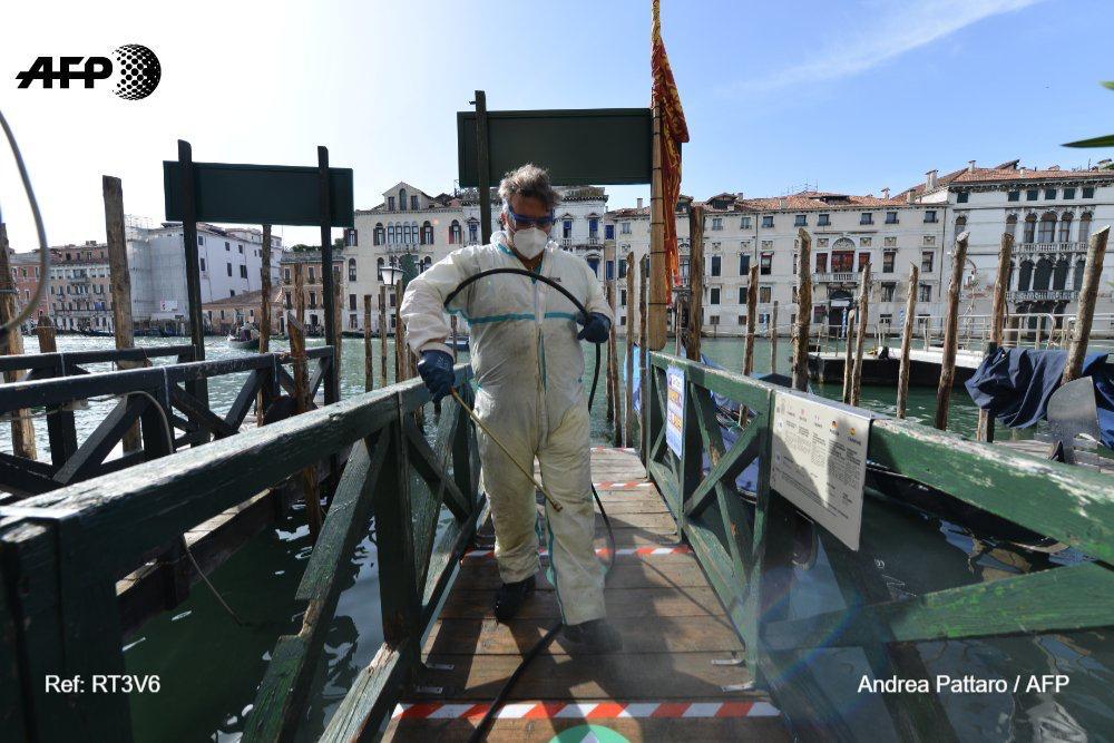 venecia regresan gondolas vacias coronavirus fotos AFP (2)