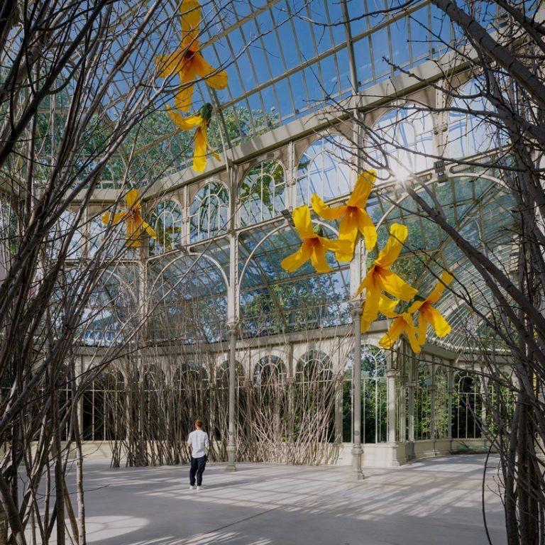 00007muestra flores Petrit Halilaj palacio de cristal