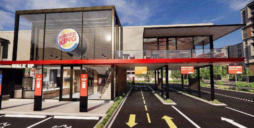 Burger King presenta su local del futuro con diseño post-pandémico sin contacto (1)