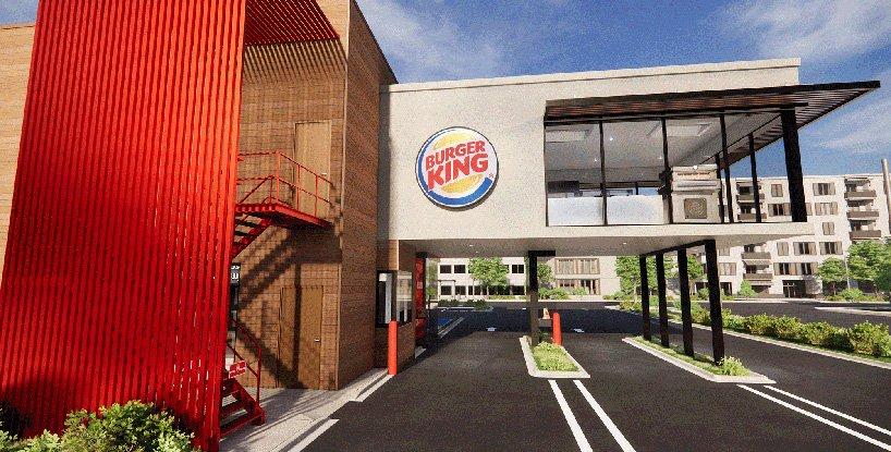 Burger King presenta su local del futuro con diseño post-pandémico sin contacto (4)
