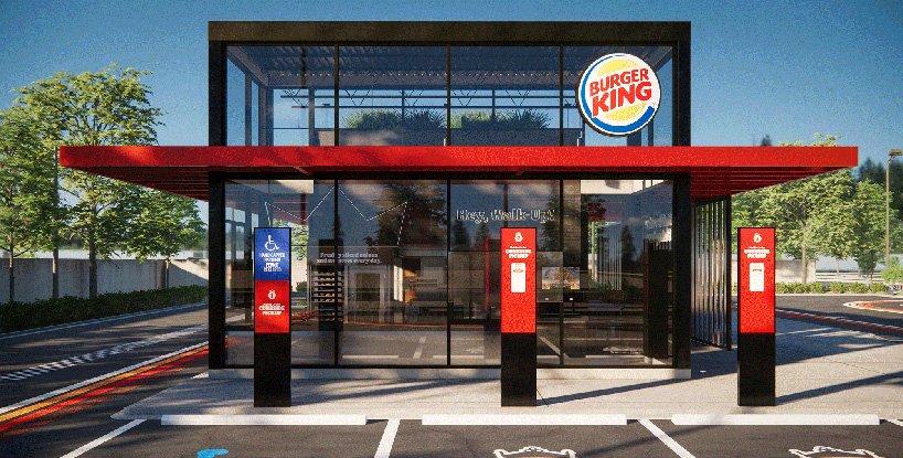 Burger King presenta su local del futuro con diseño post-pandémico sin contacto (6)