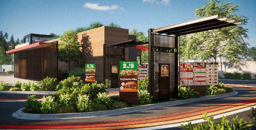 Burger King presenta su local del futuro con diseño post-pandémico sin contacto (9)