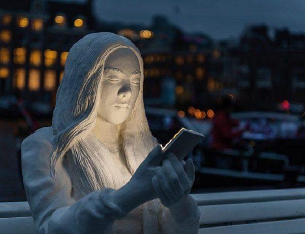 absorbed by light'  adicción smartphone amsterdam light festival 2018 loqueva (4)